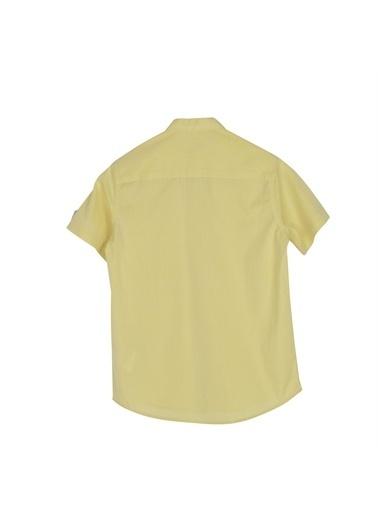 Silversun Kids Erkek Genç Kolları Düğme Detaylı Dokuma Gömlek Gc 316244 Sarı